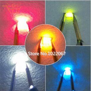 5 значений каждого 100шт =500 шт Сид SMD 1206 светодиодных супер яркий красный/зеленый/синий/желтый/белый светодиодный свет диода