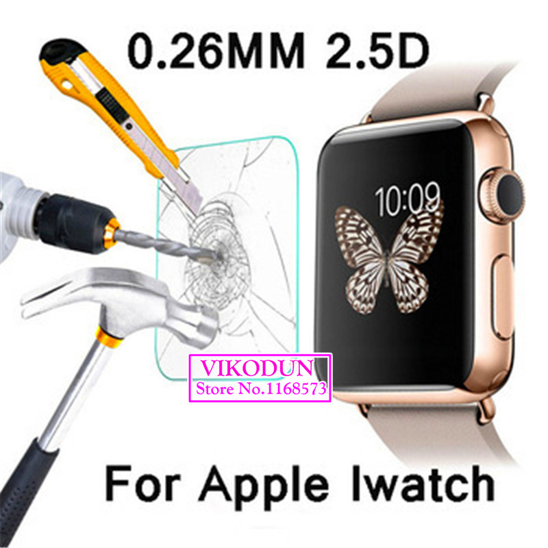 For font b Apple b font watch iWatch 38mm glass film 9H 2 5D Premium Tempered