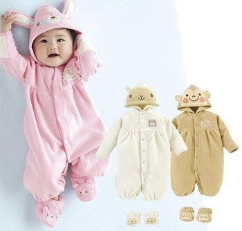Free Shipping New Born long sleeve animal printed 100% Cotton Baby Clothes & Bodysuits & Jumper suits