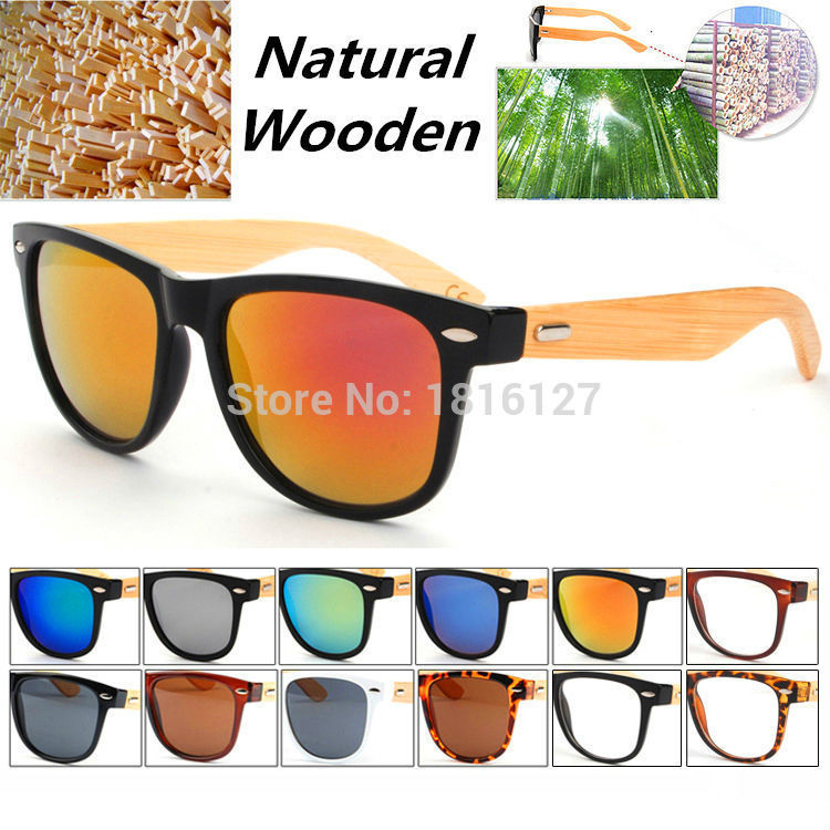 2015 Vintage Retro Real Natural Original Bamboo Wo...
