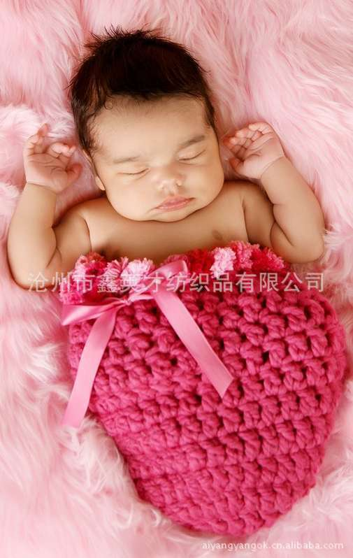 The new European and American hand-knitted crocheted baby hat super cute candy -based photography studio dedicated(China (Mainland))