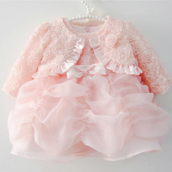 Baby Girl Dress Baptism Christening Gown for Infant Girl Pink Princess Dresses Lace Party Dress Newborn 1 Year Birthday Dress<br><br>Aliexpress