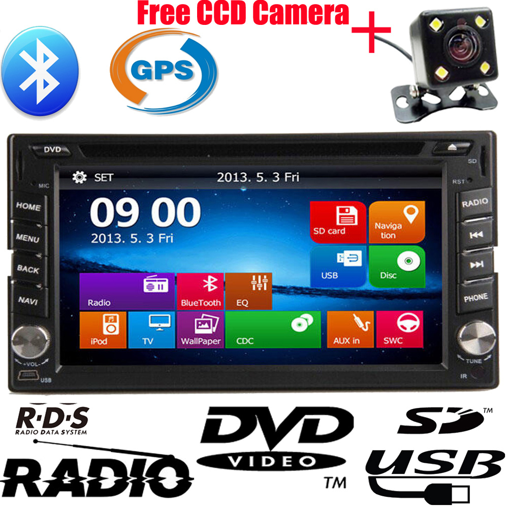 Автомобильный DVD плеер TOPMALL 2 DIN DVD GPS GPS Bluetooth USB/SD FM Mp3 CCD + 8 автомобильный dvd плеер spy mazda 2 demio automotivo dvd gps
