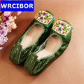 2017 New Genuine leather Women Flats Moccasins Loafers Wild Driving women Casual Shoes Leisure Concise Flat