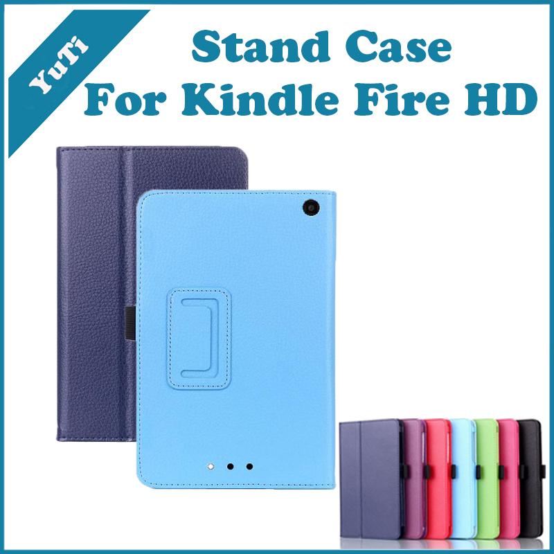 2014 New KindleFire HD 6 Case Litchi Grain Extra Slim Smart Stand Leather Cover Amazon Kindle Fire HD6 - YuTi-Tomahawk store