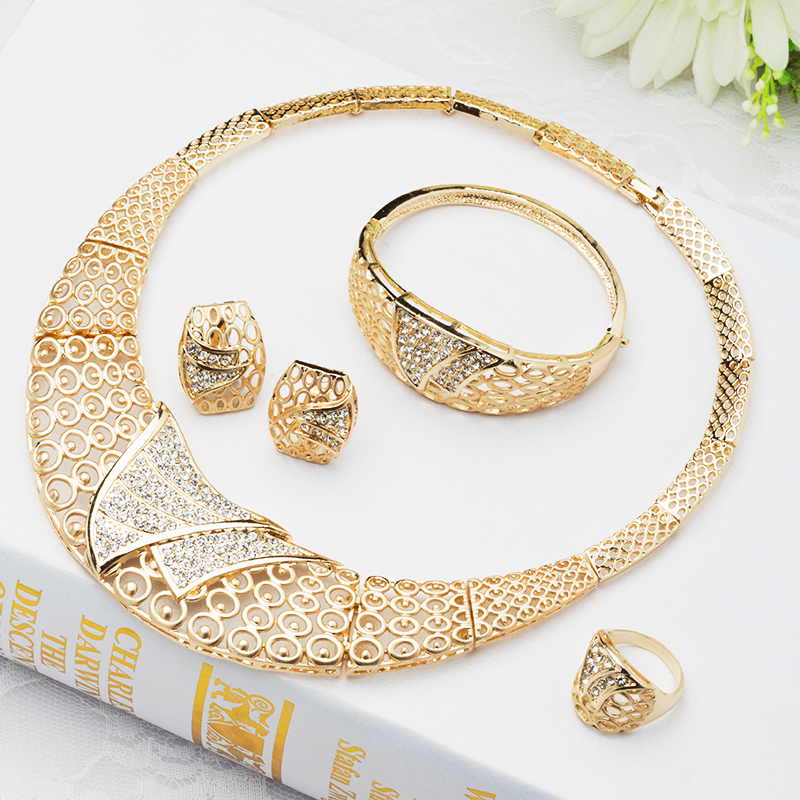 2015 Special Women Fashion Necklace Set Ancient classic african earrings necklace gold plated Vintage jewelry set J056 - Verynice Jewelry store