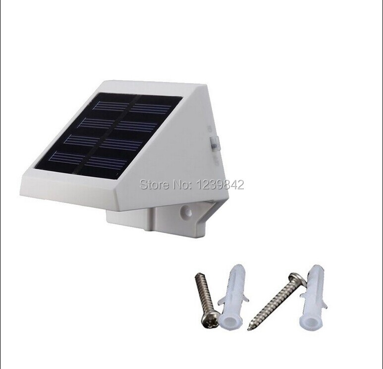 5Pcs Solar Power Powered Outdoor Garden Light Lamp Deck Fence LED Wall With S