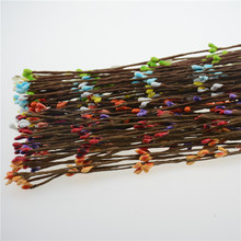 Buy 40cm 10pcs Beads Bud Branch Iron wire Handmake Artificial Flower Wedding Decoration DIY Wreath Scrapbooking Craft Fake Flower for $1.08 in AliExpress store