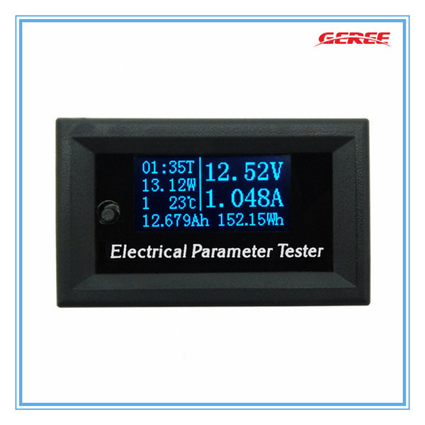 50pcs/lot DC Combo Meter Voltage Current Time Power Watt Capacity Panel Tester Car Battery<br>