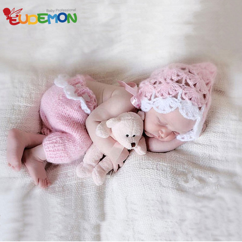 [Eudemon] Fashion Baby Birthday Clothes Knitting For Newborn Photography Props 2016 Baby Girl Clothes With Baby Hat Disfraces(China (Mainland))