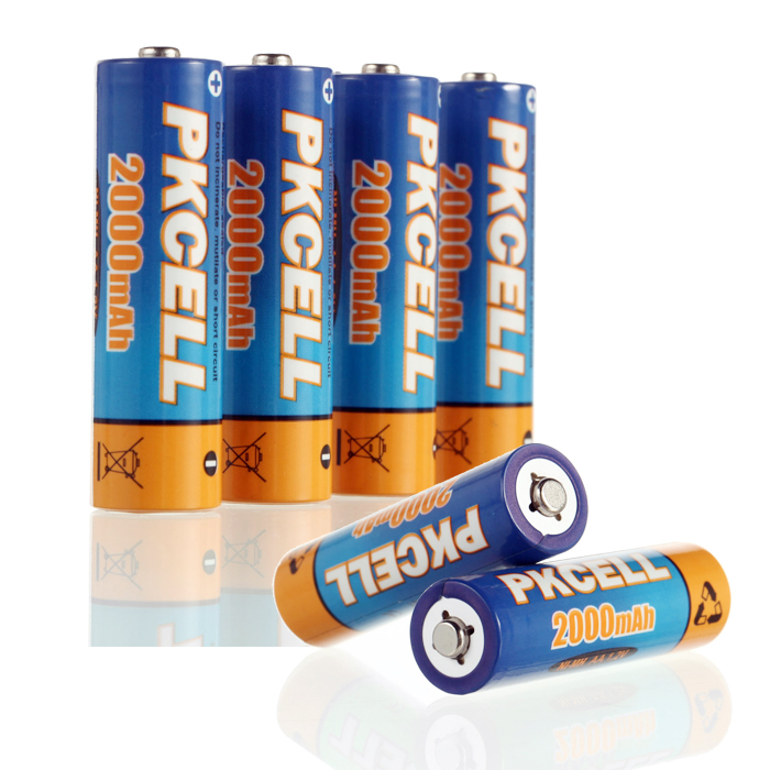 все цены на Аккумулятор 6Pcs/PKCELL 2A 2000mAh ni/mh 1.2V AA AA Rechargeable Battery онлайн