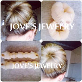 3 SETS/LOT, Hot Sale Fashion Hair Tools,Elegant Magic Style Buns Hair Accessories Hair Styling Bun Maker (1set=1small+1 large)