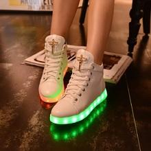 2015 новинка USB зарядка из светодиодов освещенные обувь женщин свободного покроя клинья обувь женщина светодиод спортивные кроссовки Zapatillas Mujer F8