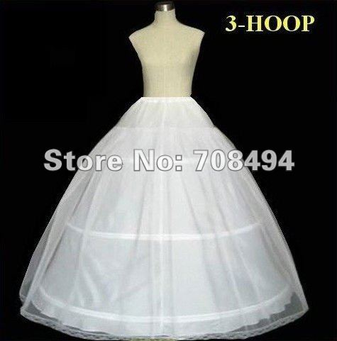 Free shipping oen size for all 3-hoop adjustable wedding dress petticoat for the bride bridal dresses accessories-perfect gowns
