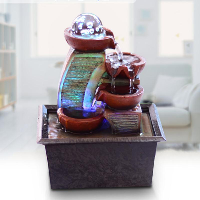 envo gratis europeos simples pequeo escritorio waterscape fuente de agua lucky fengshui ronda decoracin del