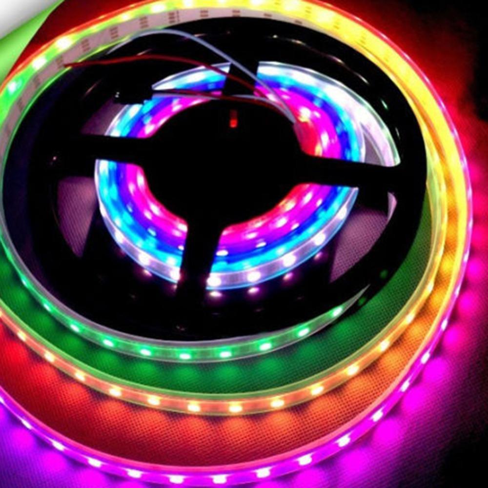 WS2811 RGB LED Strip Light Addressable Digital Tube DC12V 30LED/M White/Black(China (Mainland))