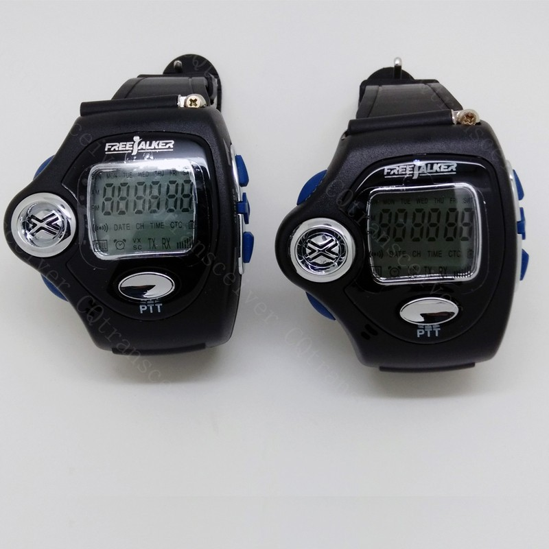 2 Sets CTCSS Compact Radio Smart Wrist Watch Talk About Walkie Talkie with LCD(China (Mainland))