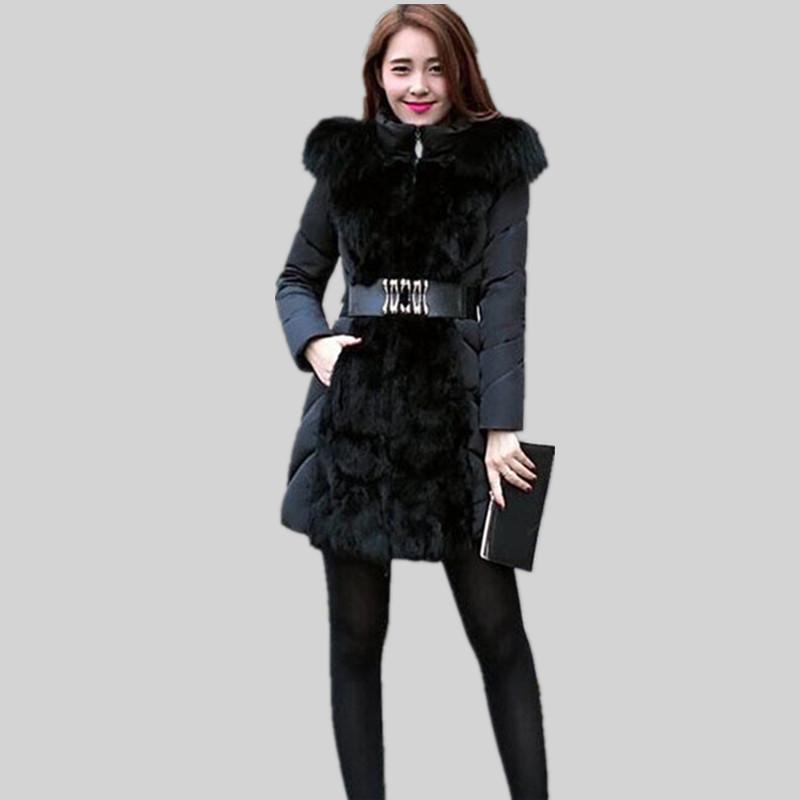 Winter Jacket Coat Women 2015 Brand New Slim Thicken Fur Long Hooded Parka Parkas Manteau Hiver Femme YJ275