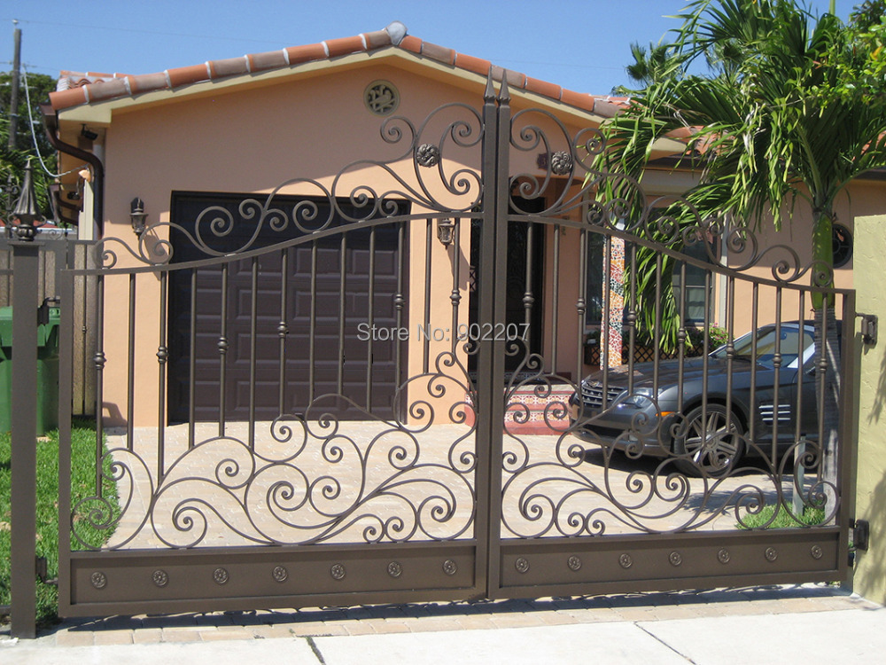 Shanghai Henchuang Industry Co.,Ltd luxury wrought iron gate design manufacturer(China (Mainland))