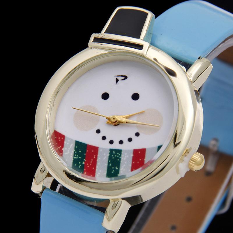 Fashion Christmas Watch Cute Santa Snowman Diamond