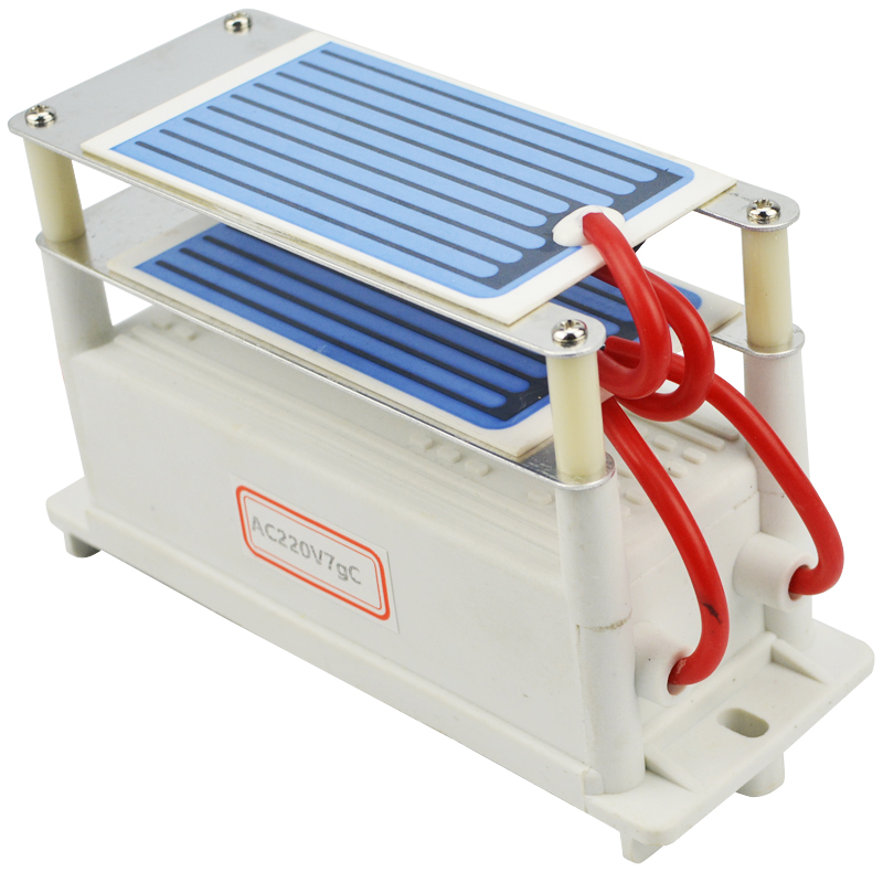 Hot Sale 220v/110v Ozone Generator 7g/h with Double Sheet Ceramic Plate Long Life Air Water Ozon Generator For Chemical Factory(China (Mainland))