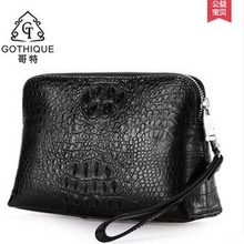 gete 2017 new hot free shipping Import Thailand crocodile leather handbag men business high-capacity hand bag fashion men bags(China (Mainland))