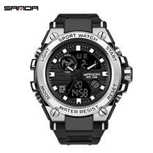 Reloj Digital para hombre estilo G marca Sanda, relojes deportivos militares a prueba de agua, reloj de pulsera electrónico para hombre 2019(China)