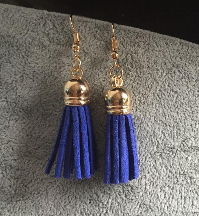 ey1092 (4 colors) New 2017 fashion jewelry hot selling women statement tassel bib Vintage earrings for women jewelry