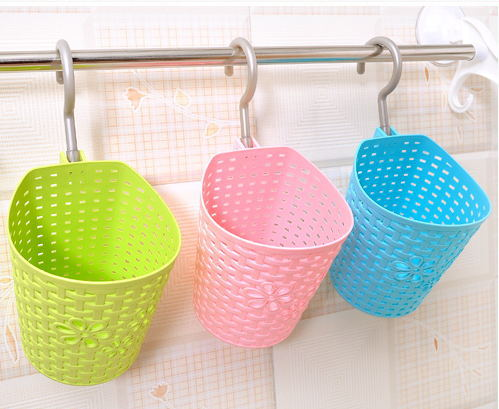1950 Multi Purpose Mini Plastic Rattan Hanging Basket Rotating Bathroom Multi Layer Storage