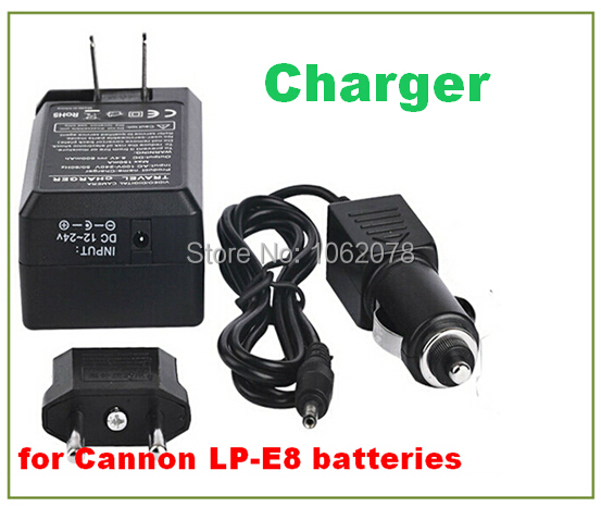 Battery Charger canon cameras LP-E8 EOS 550D 600D 650D 700 LPE8 Digital camera Replace batteries charger - colorbox store