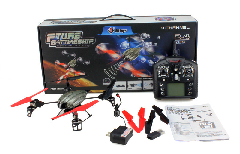Free Shipping WL V959 RC Helicopter with Camera UFO 4CH 2.4GHz Mini Radio RC Quadcopter Gyro WL V959 RTF with Camera(China (Mainland))