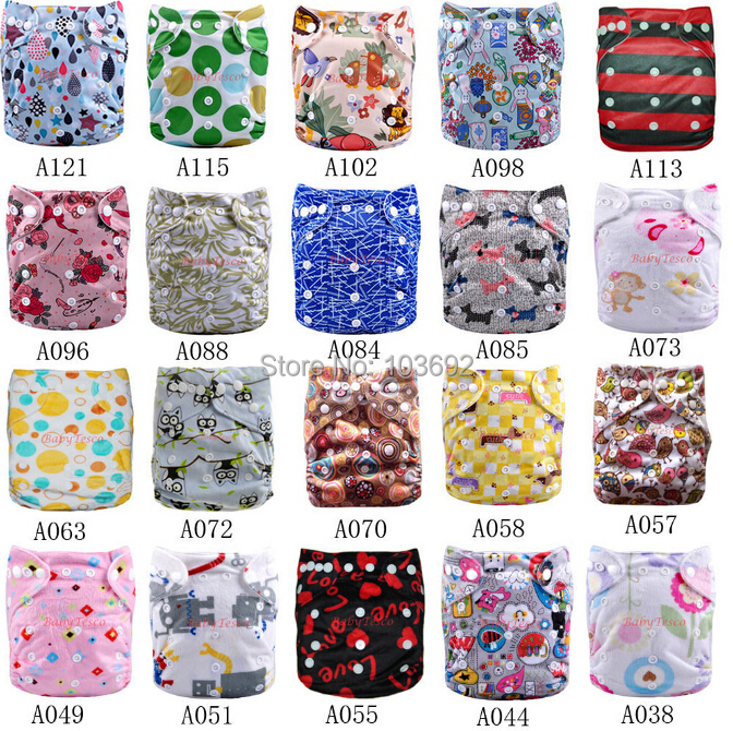 10 Diapers +10 Inserts baby nappy changing Cloth diaper inserts Washable Baby diaper bags baby Reusable Diapers 18 Colors Choose(China (Mainland))