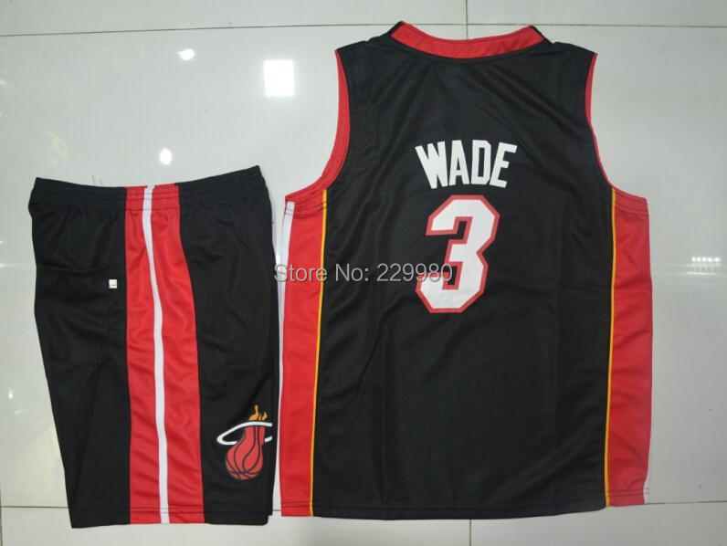 3 Colors Kid's Childrens Boys Girl's Basketball Jersey Suits Clothing Set Shirt + Shorts Print #3 - Children Jerseys store