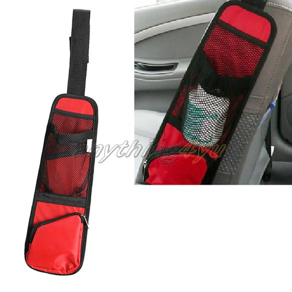 ONLY Red Car Auto Side Mount Seat Bag Storage Collector Multi-Pocket Hold Bag(China (Mainland))