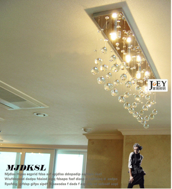 New Modern Ceiling lighting diningroom lamp Guaranteed100% Contemporary lights Crystal Wave 12W LED  Light