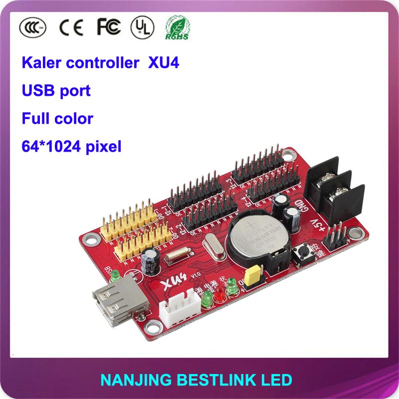 kaler LED controller card supply XU4 64*1024 pixel usb port rgb led control card led screen board scrolling advertising board(China (Mainland))