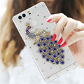 Bling bling Peacock Rhinestone Clear plastic for Huawei P9 case for Huawei Ascend P9 5 2