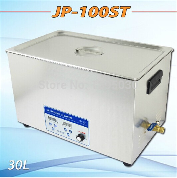 1pc JP-110ST 110V/220V Ultrasonic Cleaner 30L industrial Equipment Stainless Steel Cleaning Machine free shipping by DHL(China (Mainland))