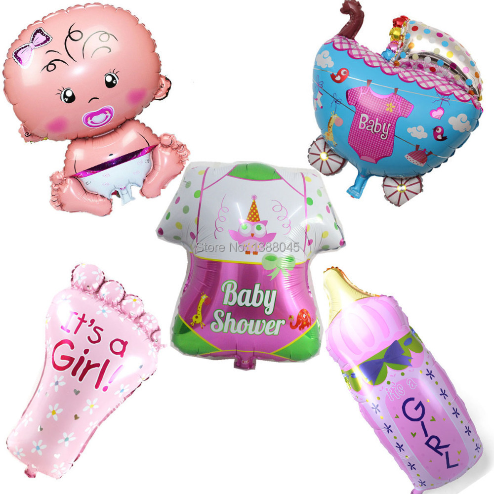 styles baby shower alumium foil balloons baby girl birthday party