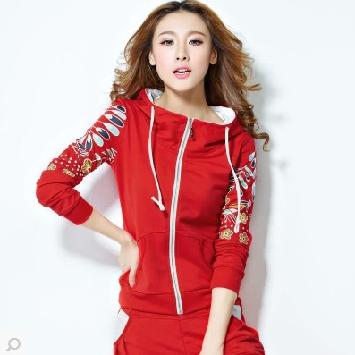 2015 New Winter Women's Sport Suit Women Leisure Sports Hoodie Set Three-piece Female Sweatshirt Sportswear Costume - China_chinesestyle store