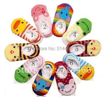 5pairs/lot,wholesale kids home socks,Cute design knitted Toddle foot wear, infant baby multicolours anti-slip socks