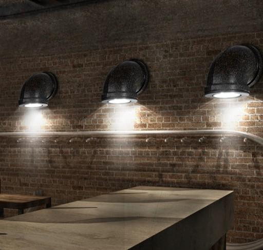Buy retro loft style industrial vintage wall light home - Lampara industrial vintage ...