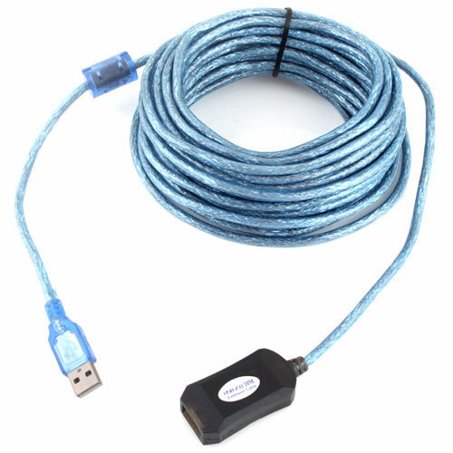 30FT 10M USB 2.0 A Male to A Female Data Built-in IC Extension Repeater Cable  #7057