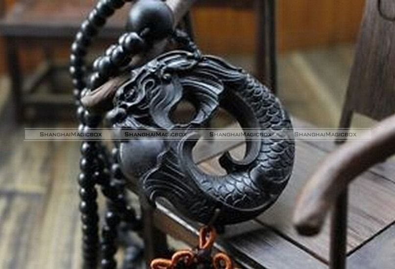 Chinese Statue Dragon Wood Carving Car Pendant/Ornament/Accessories/Amulet SMB 70215312(China (Mainland))