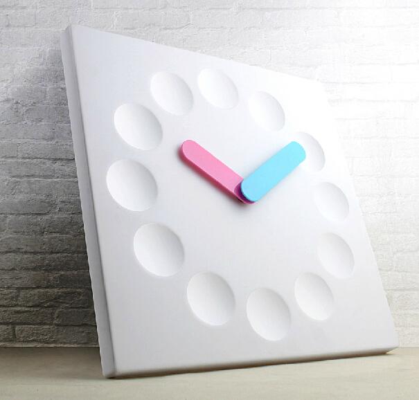 Free Shipping 12'' ABS Plastic Square Wall Clock(China (Mainland))