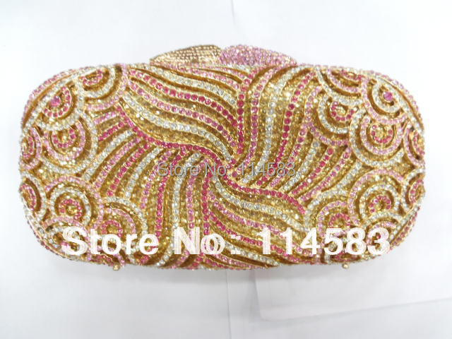 5022-Ta Multi-color Floral Flower Crystal Metal Evening Wedding Bridal Party Night Metal purse clutch bag case IN FREE SHIPMENT<br><br>Aliexpress