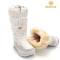 2016 new winter high women boots plush warm lady shoe plus size 35 to 42 easy