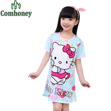 Snow White Girls Nightgown Cartoon Character Pajama for Girl Princess Sleepwear Hello Kitty Baby Nightdress Kid Night Gown Dress