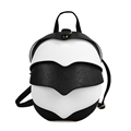 Personality Beatles School Backpacks for Girls European Style Designer Black White Shoulder Bags College Backpack