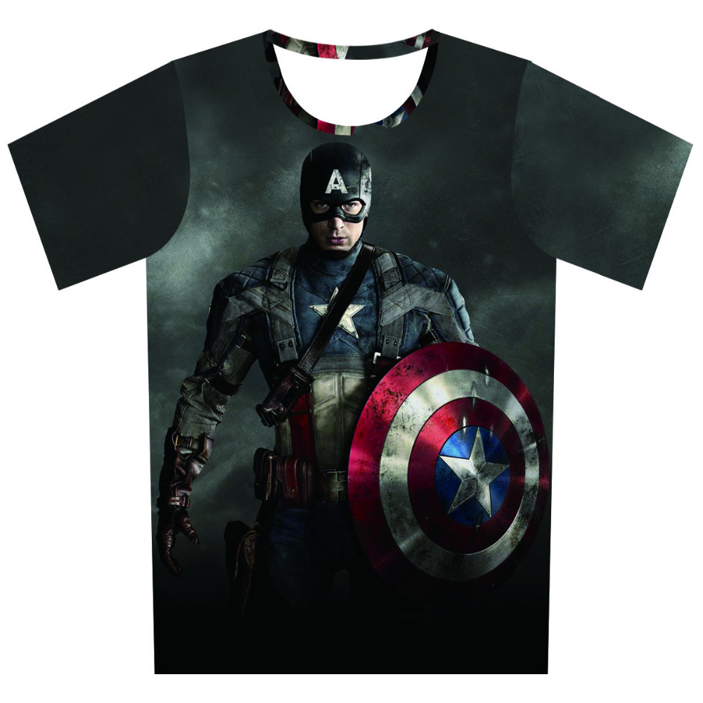 Free shipping star wars t shirts men captain america 3d t for Mens shirt with stars